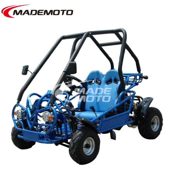Double Seats Go-Kart for kids 110cc, three speed with reverse